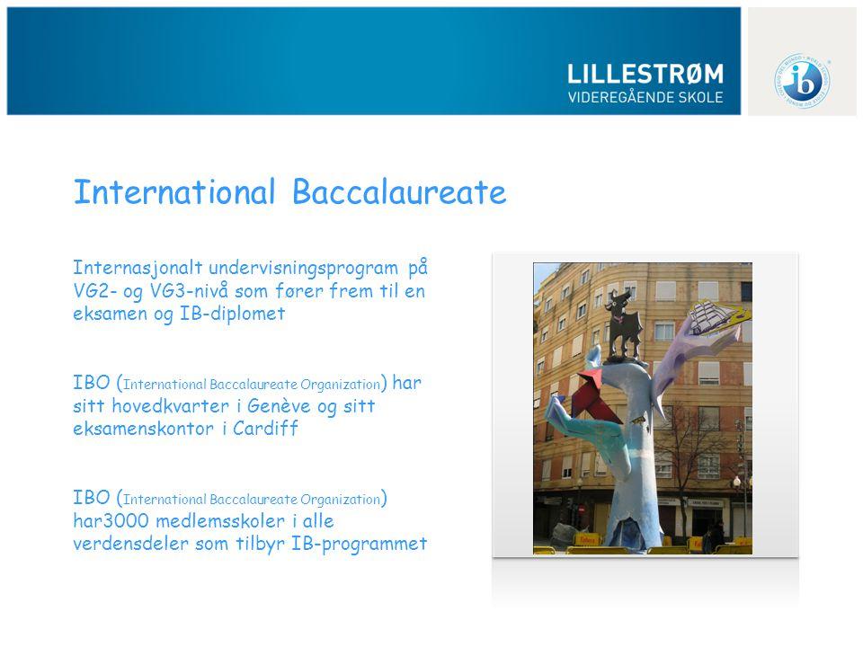 Internasjonalt undervisningsprogram på VG2- og VG3-nivå som fører frem til en eksamen og IB-diplomet IBO ( International Baccalaureate Organization )