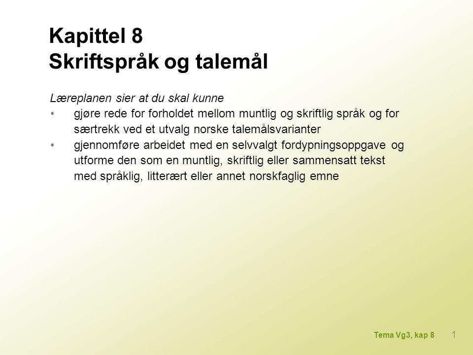 Rune Guneriussen (f. 1977): Tele, 2007 2 Tema Vg3, kap 8