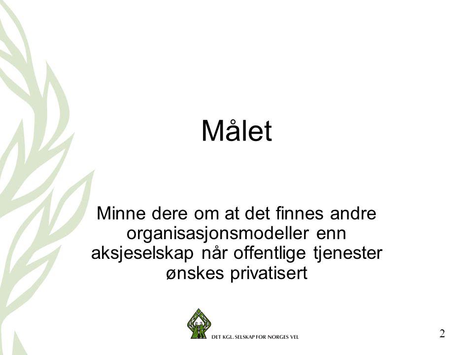 3 Bakgrunnen for vår interesse •Utviklingen i retning privatisering av offentlige tjenester •Fremvekst av brukerstyrt omsorg i Sverige •Vår erfaring med etablering av brukerstyrte virksomheter på andre sektorer