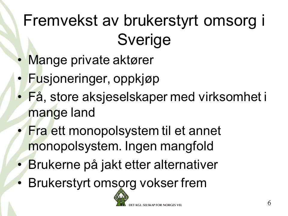17 Erfaringer fra personalstyrte samvirkeforetak i Sverige •Økt selvfølelse blant personalet •Økt forståelse for økonomiske sammenhenger •Utvikler fellesskap •Stor forbedring i arbeidsglede og engasjement.
