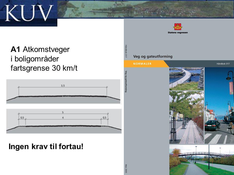 Sa1 Samleveger i boligområder fartsgrense 50 km/t Samleveger i boligområder bør ikke være lengre enn 2 km, eller ha en trafikkbelastning på mer enn ÅDT 1 500.