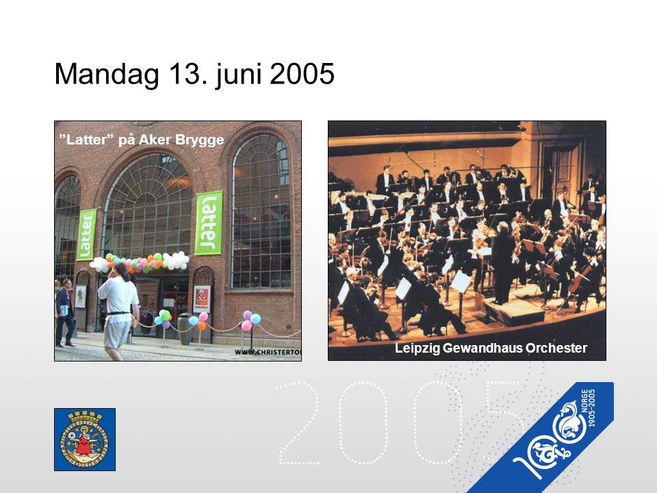 """Mandag 13. juni 2005 Oslo City Race Leipzig Gewandhaus Orchester """"Latter"""" på Aker Brygge"""