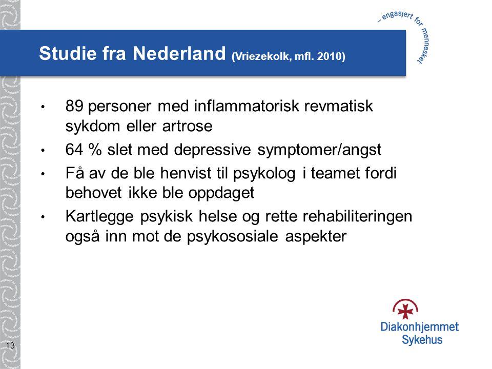 Studie fra Nederland (Vriezekolk, mfl.