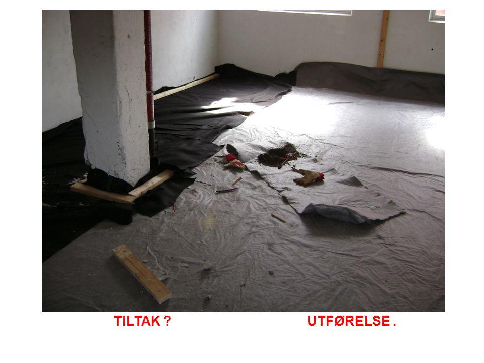 TILTAK UTFØRELSE.