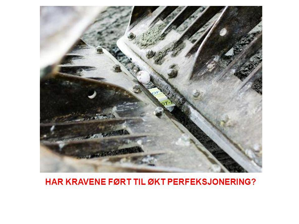 HAR KRAVENE FØRT TIL ØKT PERFEKSJONERING