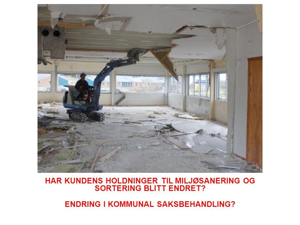 HAR KUNDENS HOLDNINGER TIL MILJØSANERING OG SORTERING BLITT ENDRET.