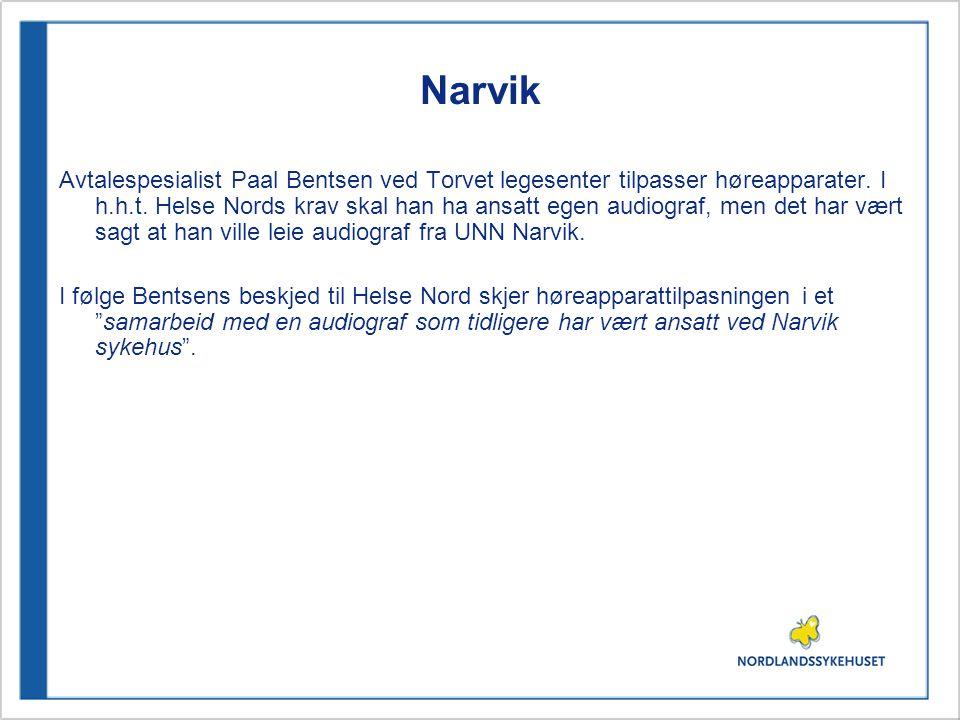 Narvik Avtalespesialist Paal Bentsen ved Torvet legesenter tilpasser høreapparater.