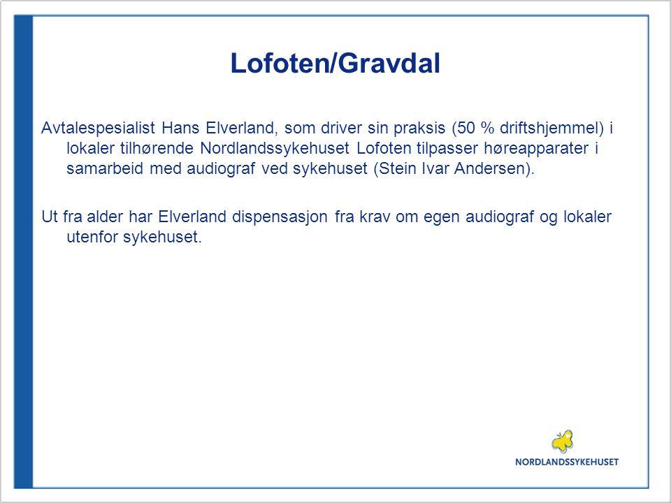 Lofoten/Gravdal Avtalespesialist Hans Elverland, som driver sin praksis (50 % driftshjemmel) i lokaler tilhørende Nordlandssykehuset Lofoten tilpasser høreapparater i samarbeid med audiograf ved sykehuset (Stein Ivar Andersen).