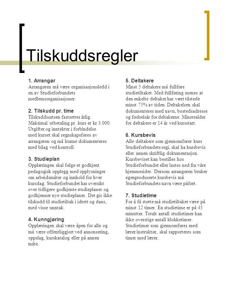 Tilskuddsregler 1.
