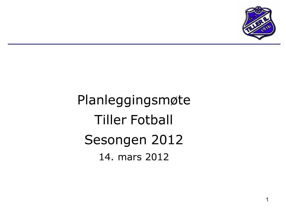 1 Planleggingsmøte Tiller Fotball Sesongen 2012 14. mars 2012