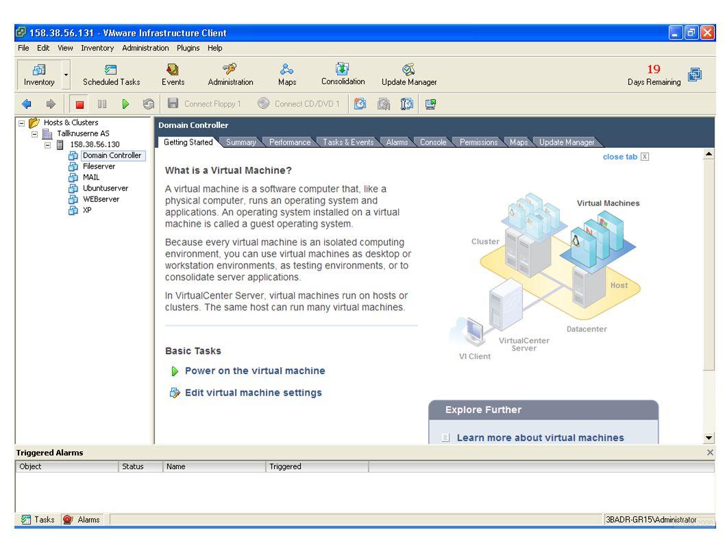 Drift av Vmware ESX Server for HiST – Gruppe 15