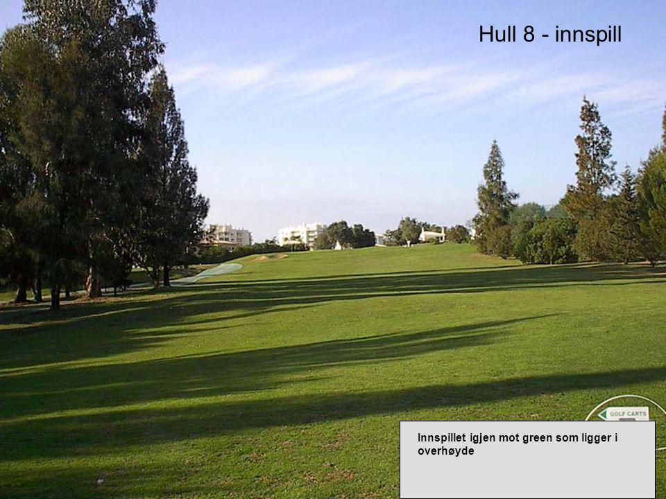 Hull 8 - innspill Innspillet igjen mot green som ligger i overhøyde