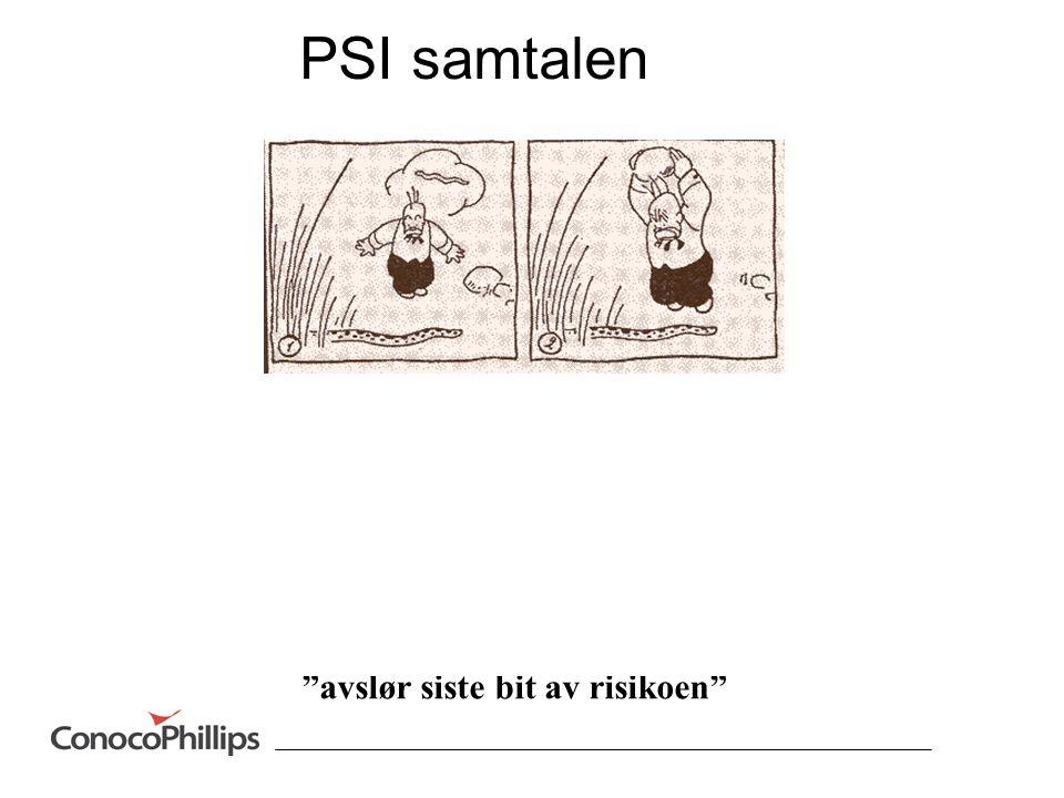 PSI samtalen avslør siste bit av risikoen