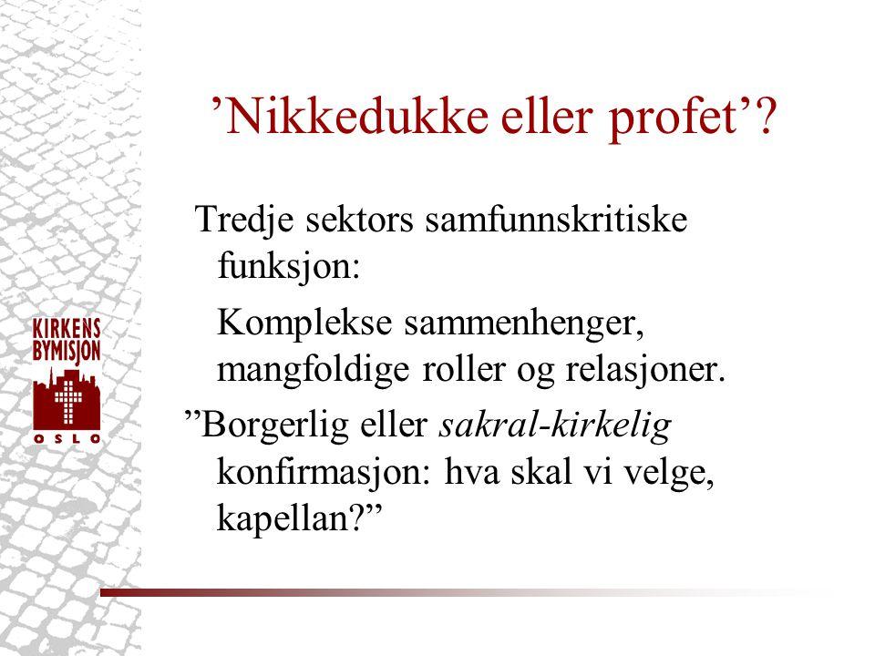 'Nikkedukke eller profet'.