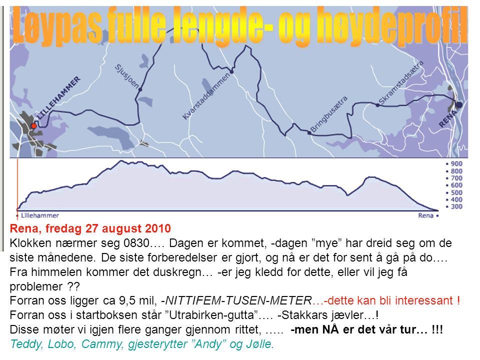 Rena, fredag 27 august 2010 Klokken nærmer seg 0830….