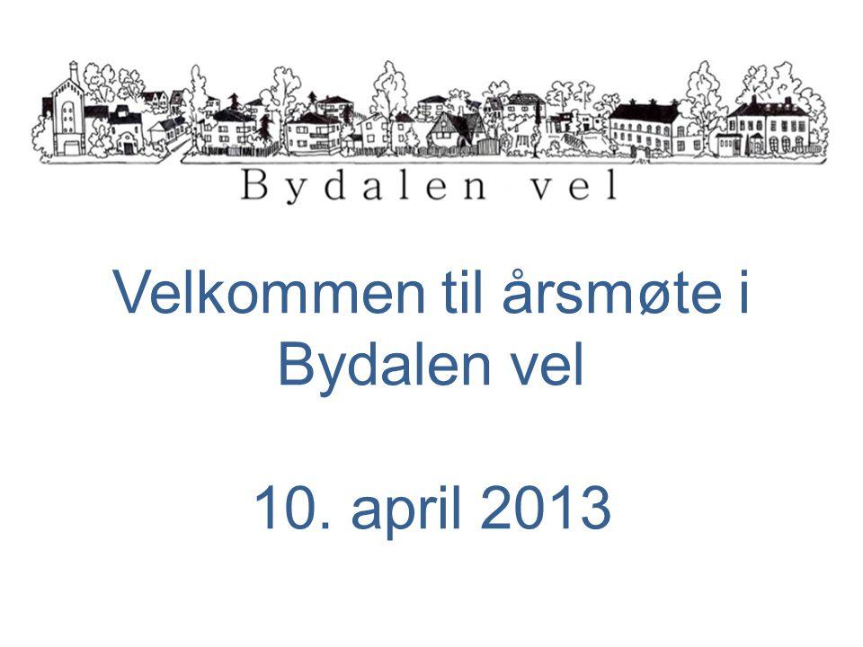 Velkommen til årsmøte i Bydalen vel 10. april 2013