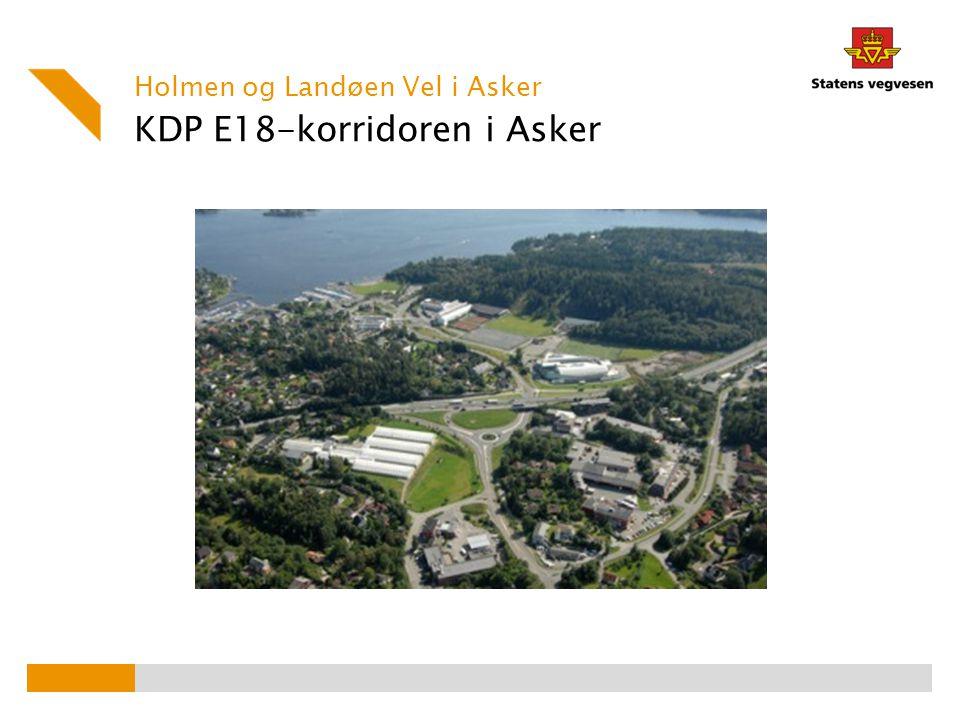 KDP E18-korridoren i Asker Holmen og Landøen Vel i Asker