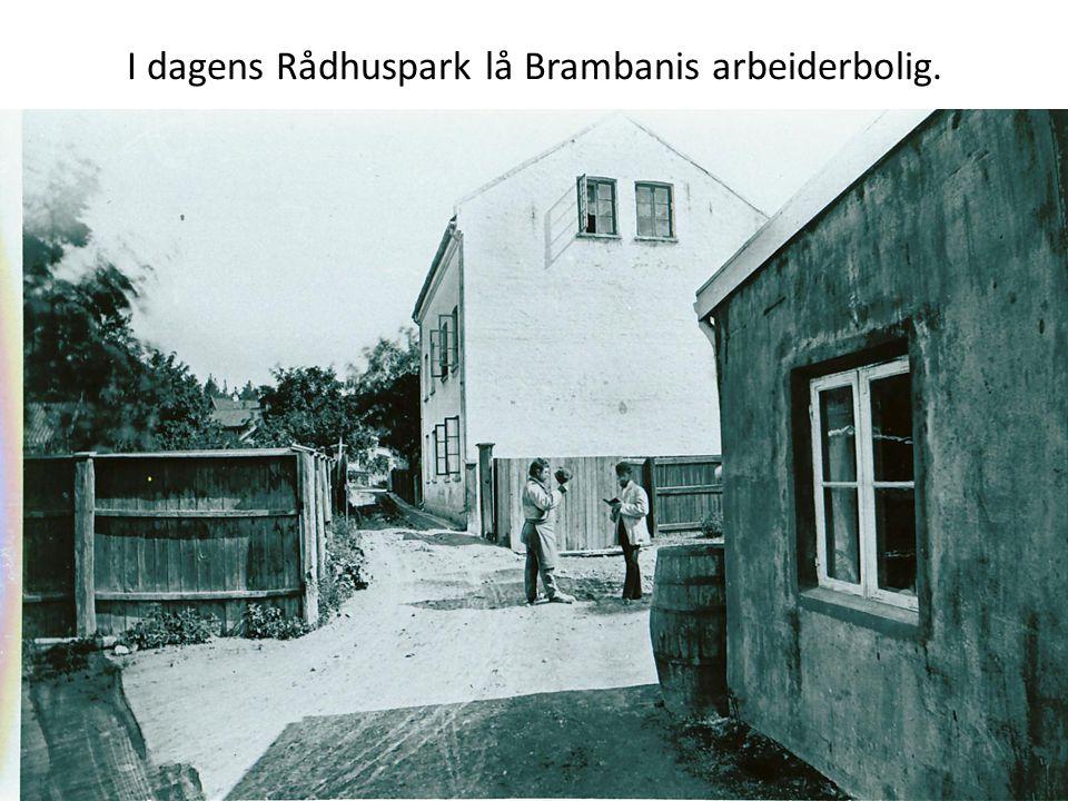 I dagens Rådhuspark lå Brambanis arbeiderbolig.