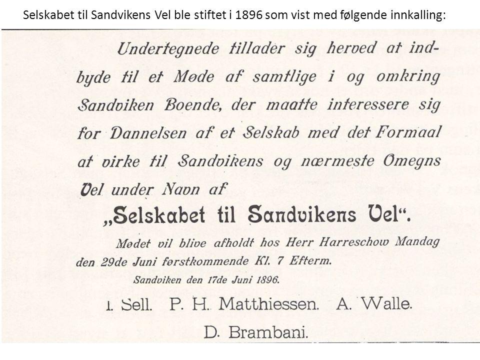 Sandvika Vel har foreslått for kommunen at det reises et minnesmerke over Brambani på et synlig sted forbundet med dagens Brambanigård Kilder: Bærum Bibliotek, Harald Kolstad, Alf R Bjercke, Kjell E.