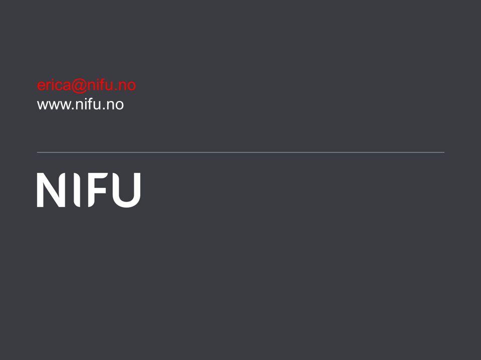 www.nifu.no erica@nifu.no
