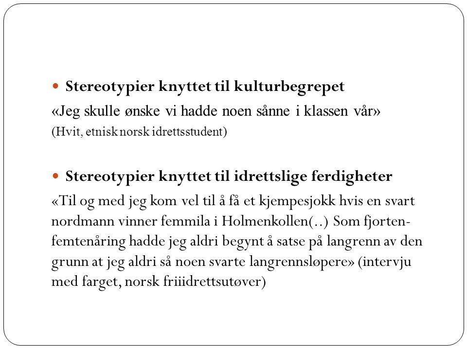 Stereotypier kan også være knyttet til ideer om hva kvinner versus menn kan gjøre….