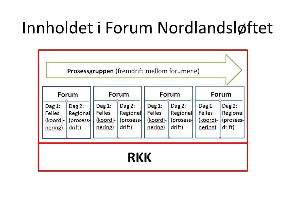 Innholdet i Forum Nordlandsløftet Forum Nordlandsløftet RKK