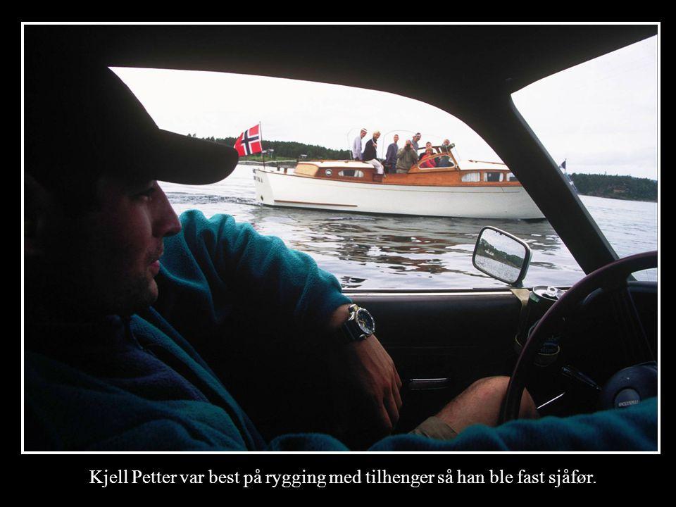 Kjell Petter var best på rygging med tilhenger så han ble fast sjåfør.