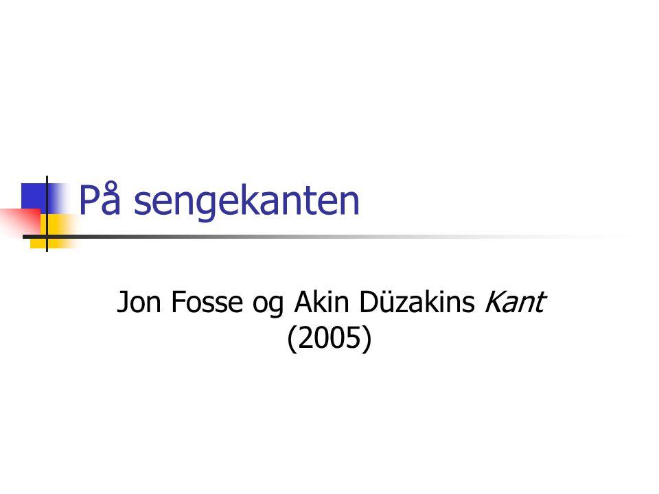 På sengekanten Jon Fosse og Akin Düzakins Kant (2005)