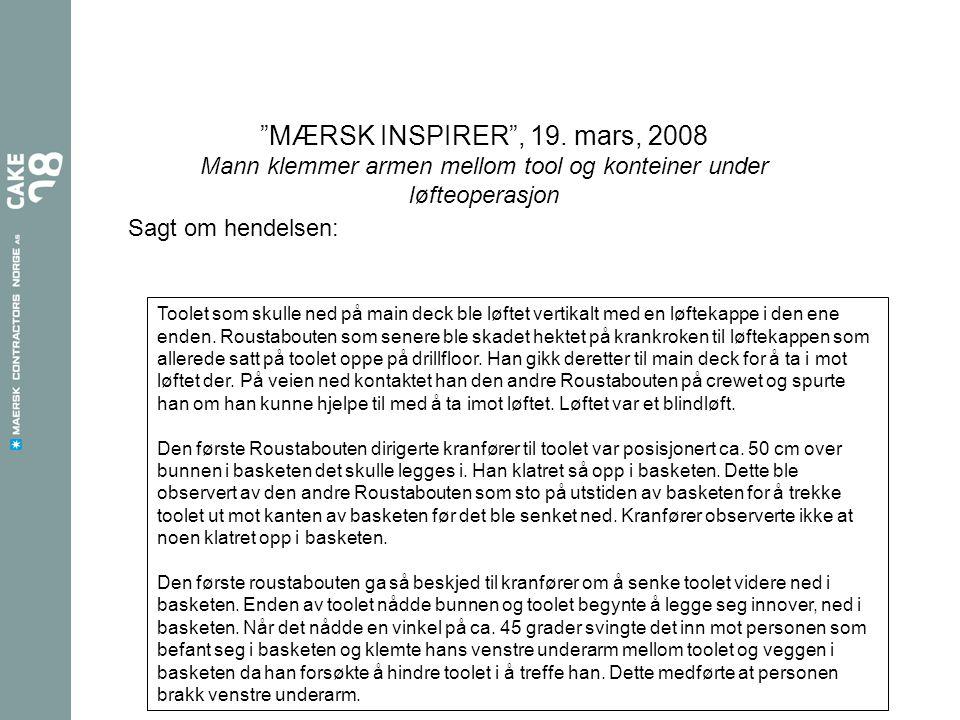 MÆRSK INSPIRER , 19.