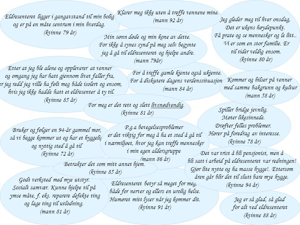 Oslo kommune Helse- og velferdsetaten Eldresenterforum 27 april 2006 Bystyresaker som berører eldresentrene • Sak 313/2004Forebyggende hjemmebesøk for eldre over 75 år – resultat og erfaringer • Sak 22/2005,Helsestasjoner for eldre og/eller eldreveiledertjenester • Anbefales å tilby seniorveiledertjeneste i alle bydelene • Bydelene må selv definere omfang og prioriterte målgrupper og finansiere tjenesten • Sak 114/2005Mal for avtale om drift av seniorsenter/eldresenter i Oslo • Sak 354/2005Gjennomføring av en brukerundersøkelse ved Oslos eldresentre