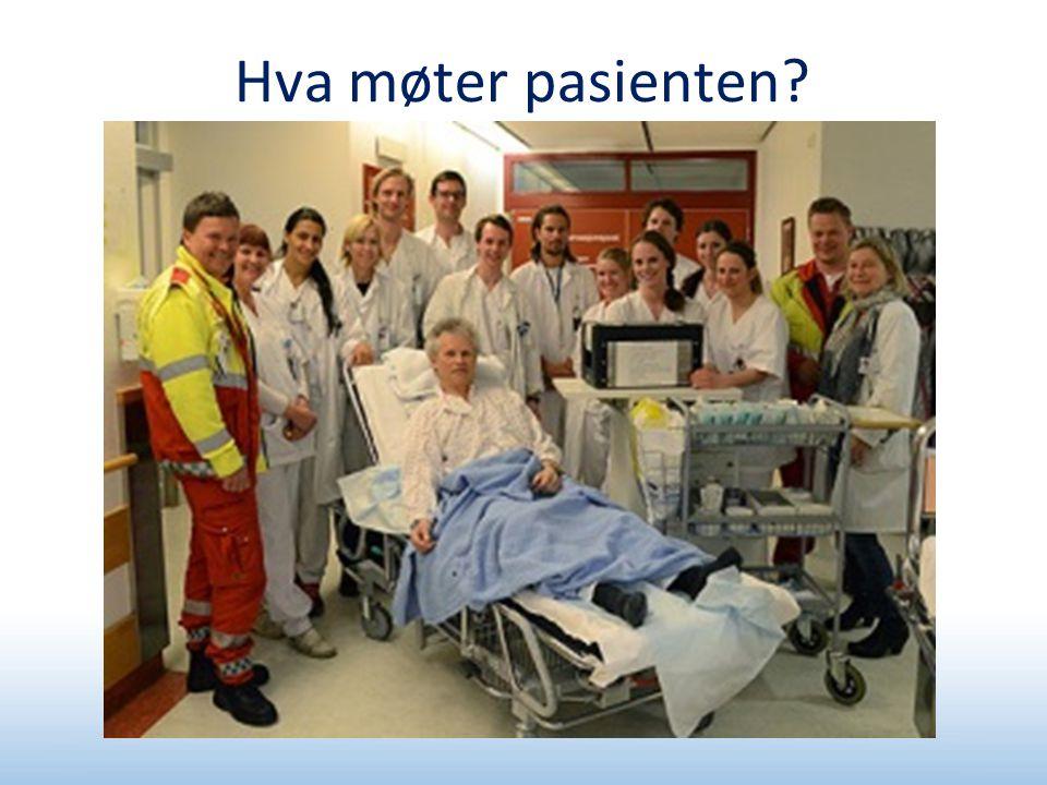 Hva møter pasienten?