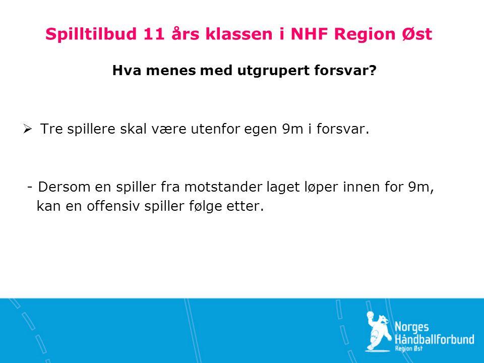 Spilltilbud 11 års klassen i NHF Region Øst Hva menes med utgrupert forsvar.
