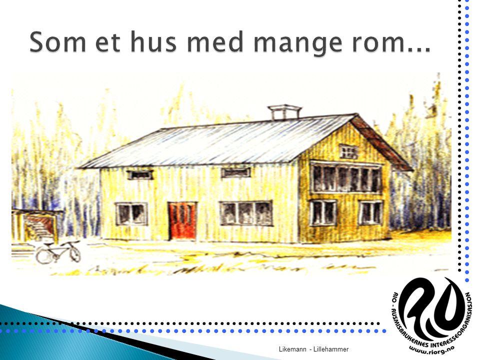 Samtalerommet er husets storstue Likemann - Lillehammer InformasjonsromRådgivningsrom Samtalerom – storstua Alt-mulig- rom