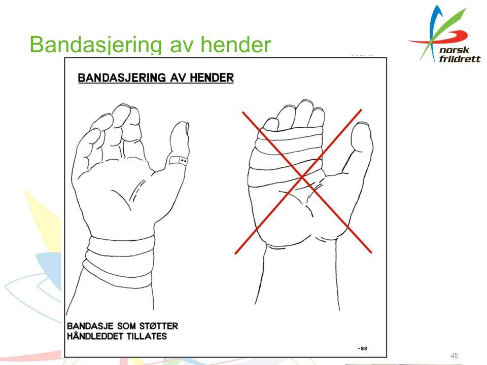 Bandasjering av hender 48