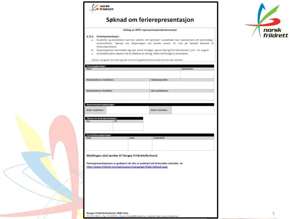 Klasseinndeling BetegnelseAlderInndelingVarighetDiverse Barn7-9 årSamletRegler i «Friidrett for barn og ungdom».