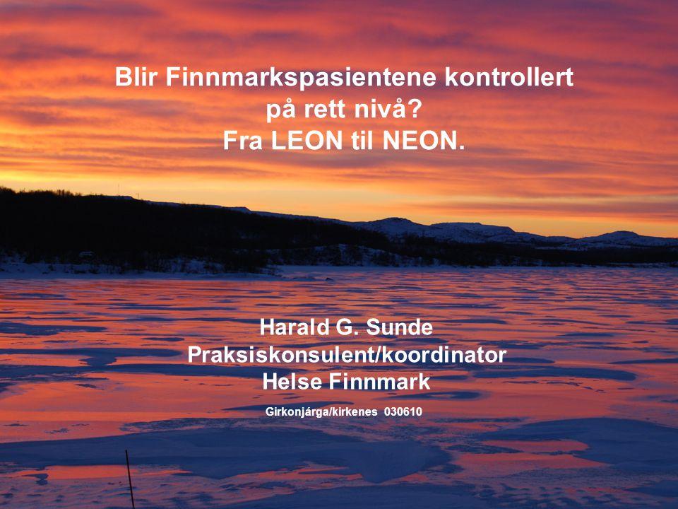 Eksempel 4  Pasient fra Kirkenes operert 2007 på UNN for leppekreft.