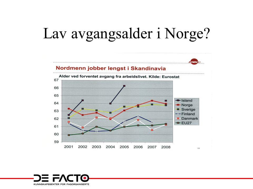 Lav avgangsalder i Norge