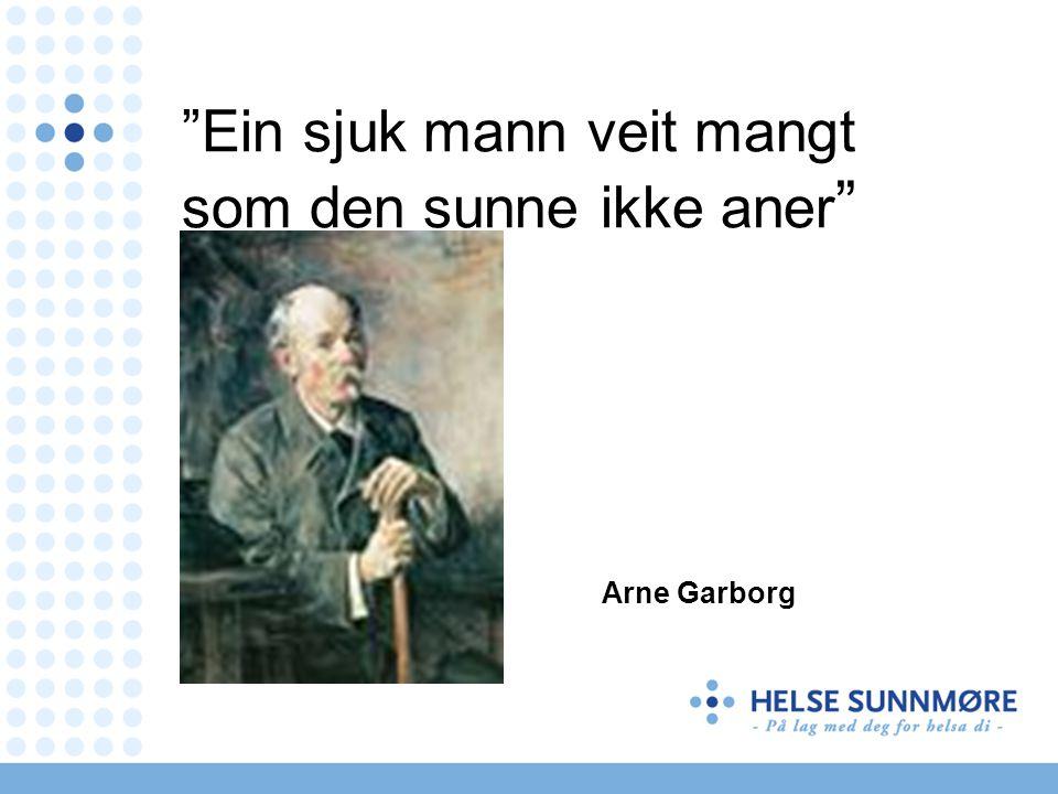 Ein sjuk mann veit mangt som den sunne ikke aner Arne Garborg