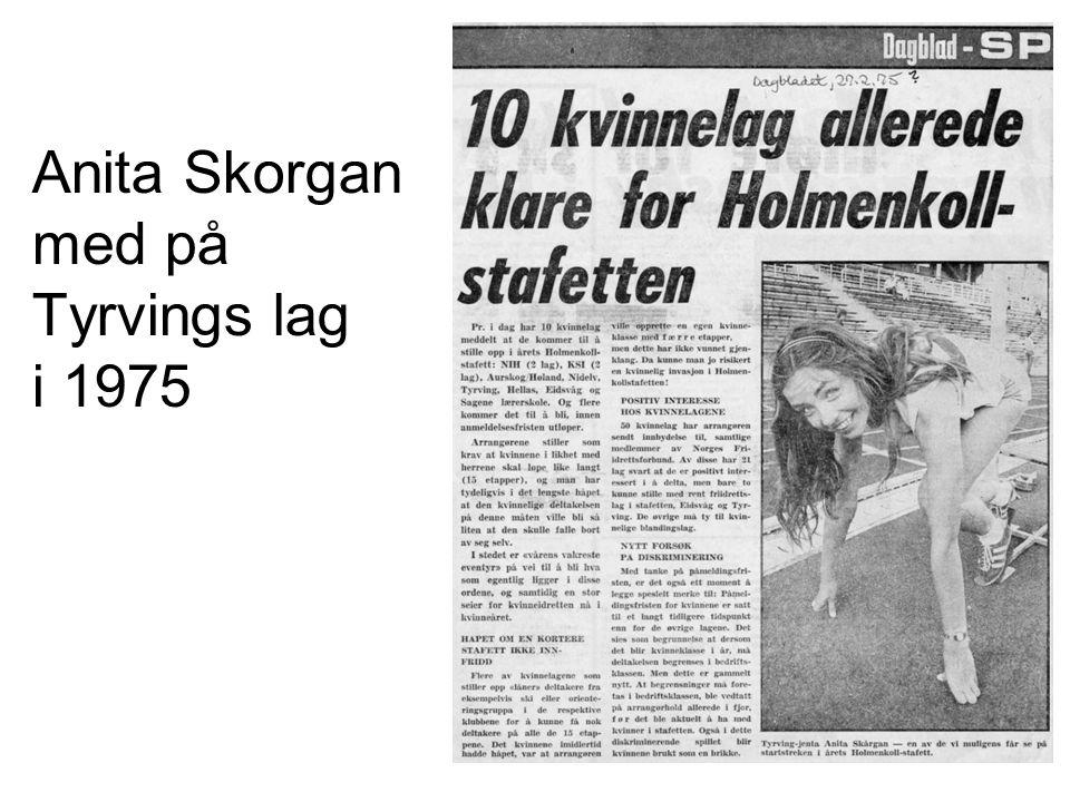 Anita Skorgan med på Tyrvings lag i 1975