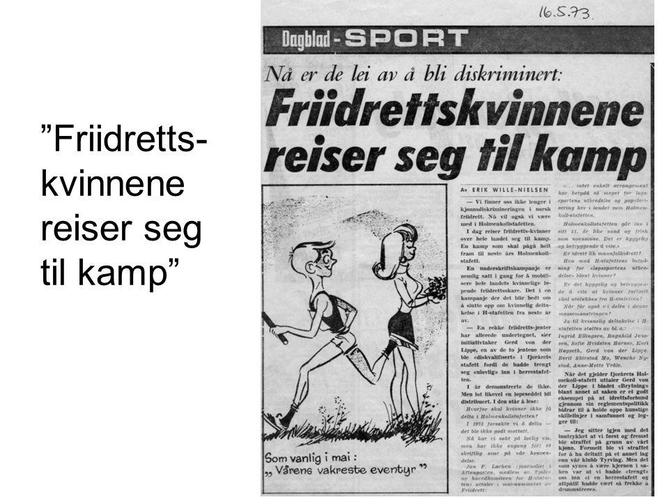 Dagbladet: Vårens skamplett •Stor støtte til Aksjonskomite for kvinnelig deltakelse i H-stafetten •Vårt stønt natten før stafetten i 1974
