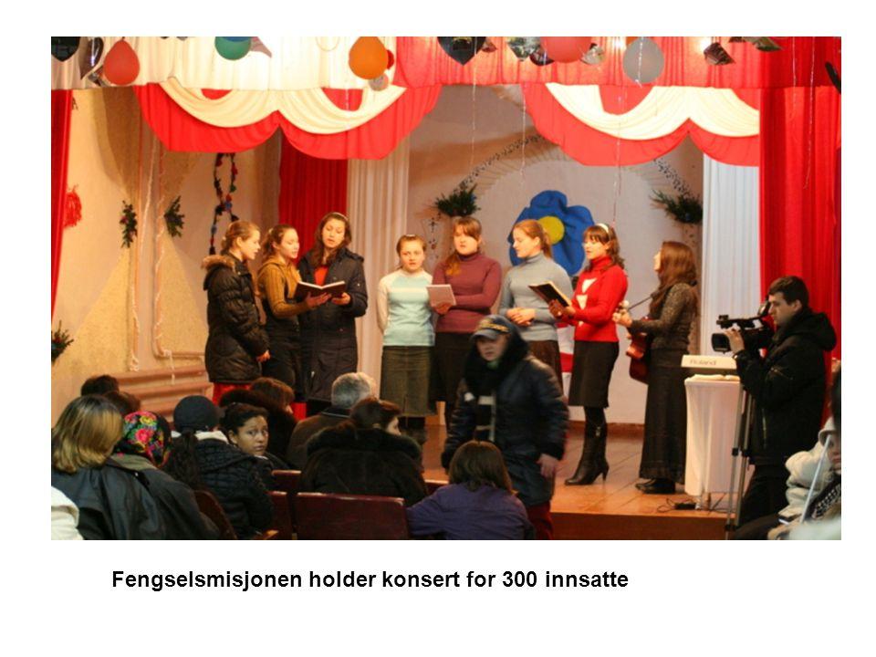Fengselsmisjonen holder konsert for 300 innsatte