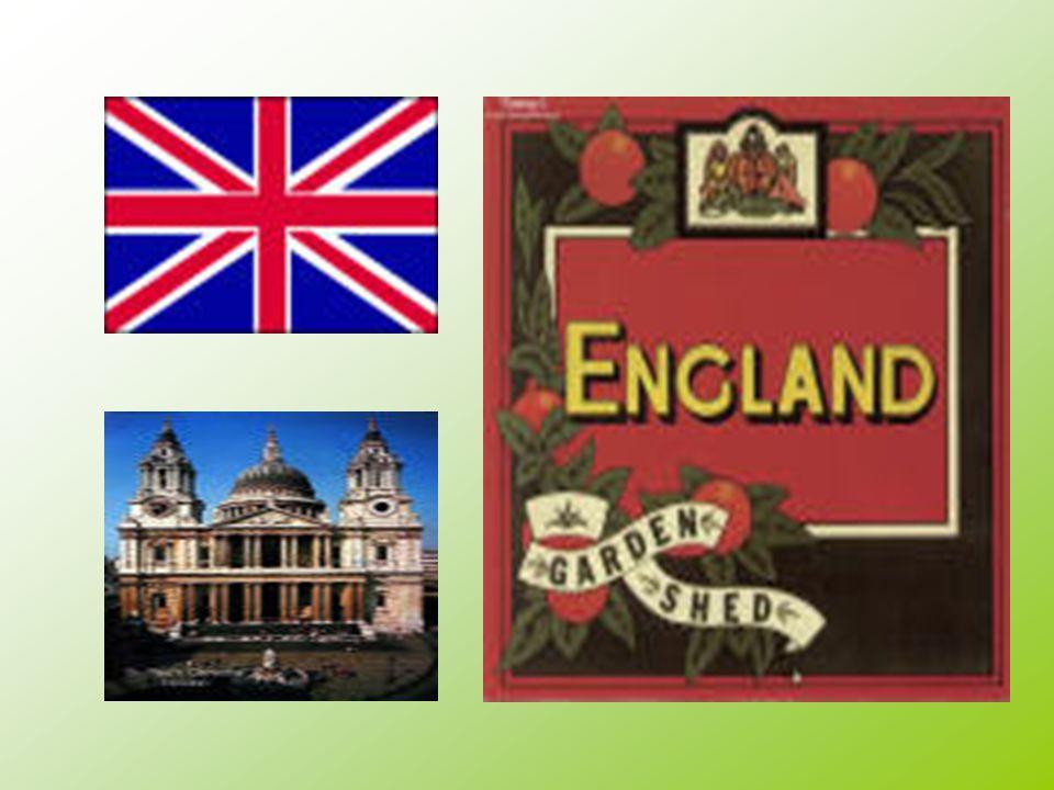 England. Hovedstaten i England heter London. England har 59,5 mill. Innbyggere. Og det var i år 2000.