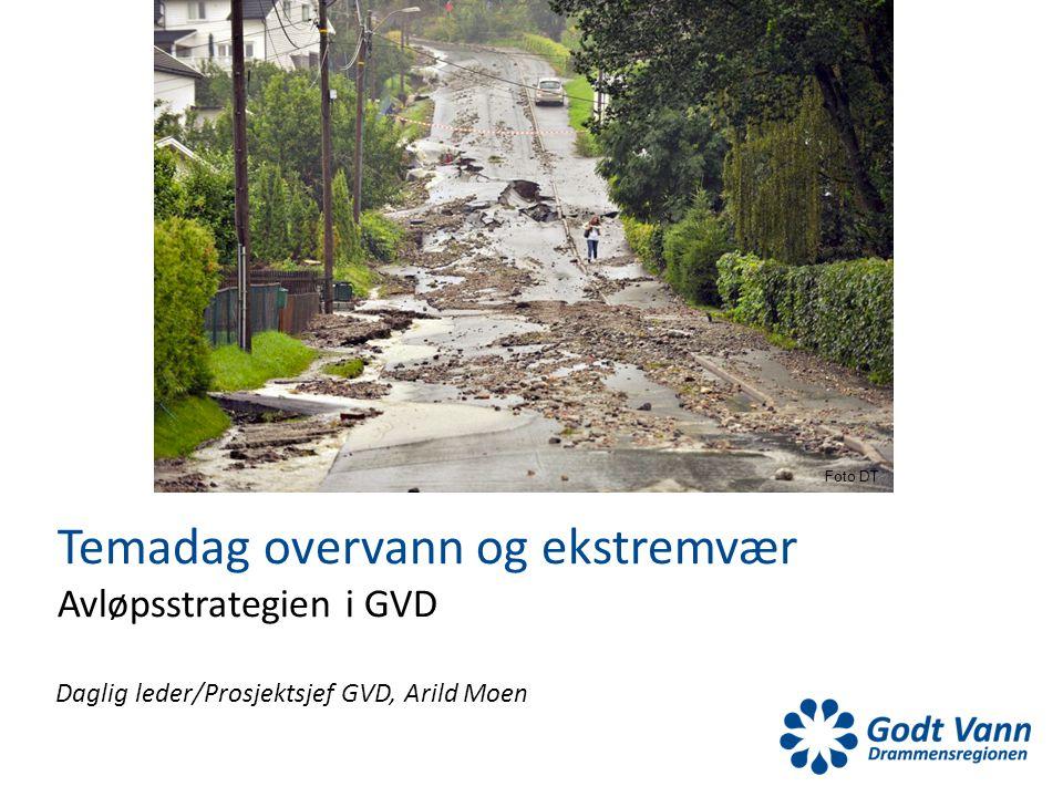 Daglig leder/Prosjektsjef GVD, Arild Moen Temadag overvann og ekstremvær Avløpsstrategien i GVD Foto DT