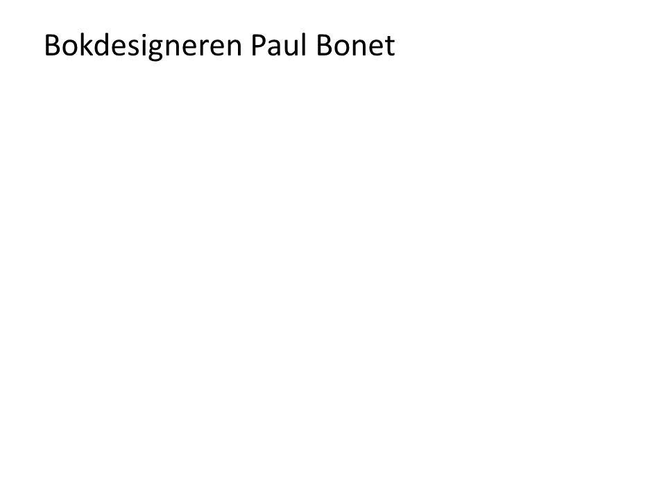 Bokdesigneren Paul Bonet
