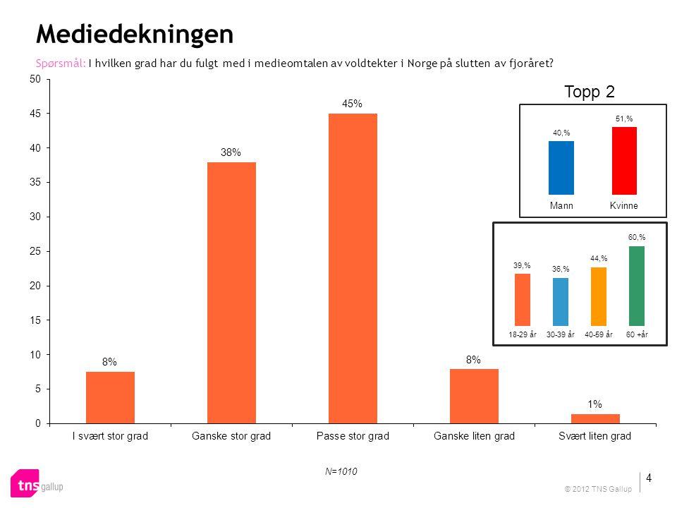 Mediedekningen Spørsmål: I hvilken grad har du fulgt med i medieomtalen av voldtekter i Norge på slutten av fjoråret.