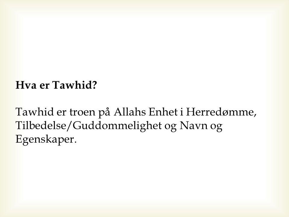 Troen på Allahs Herredømme over alle skapninger / Rububiyah 1) Kan du gi tekstlige bevis?