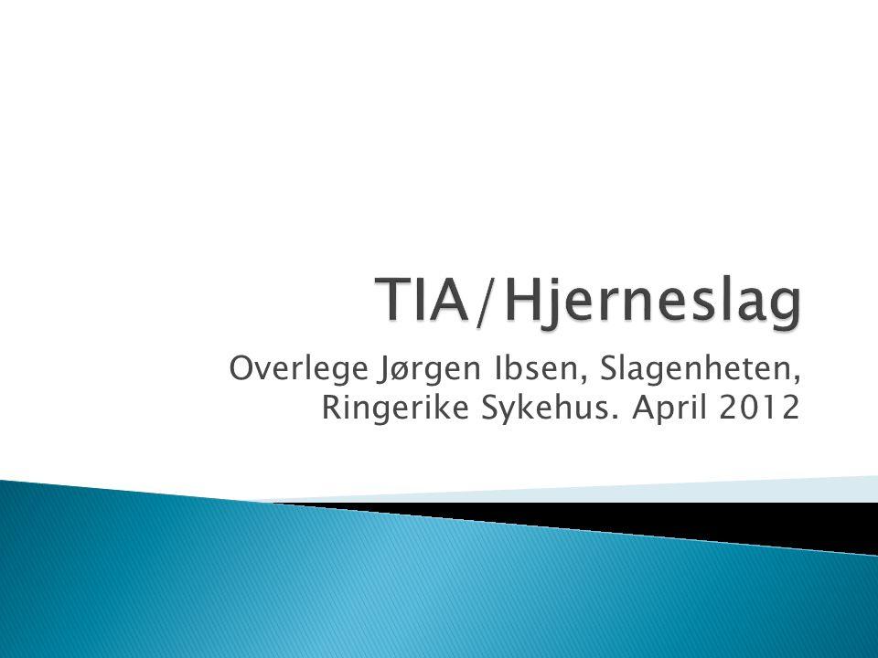Overlege Jørgen Ibsen, Slagenheten, Ringerike Sykehus. April 2012