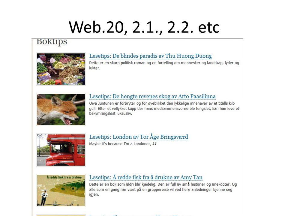 Web.20, 2.1., 2.2. etc