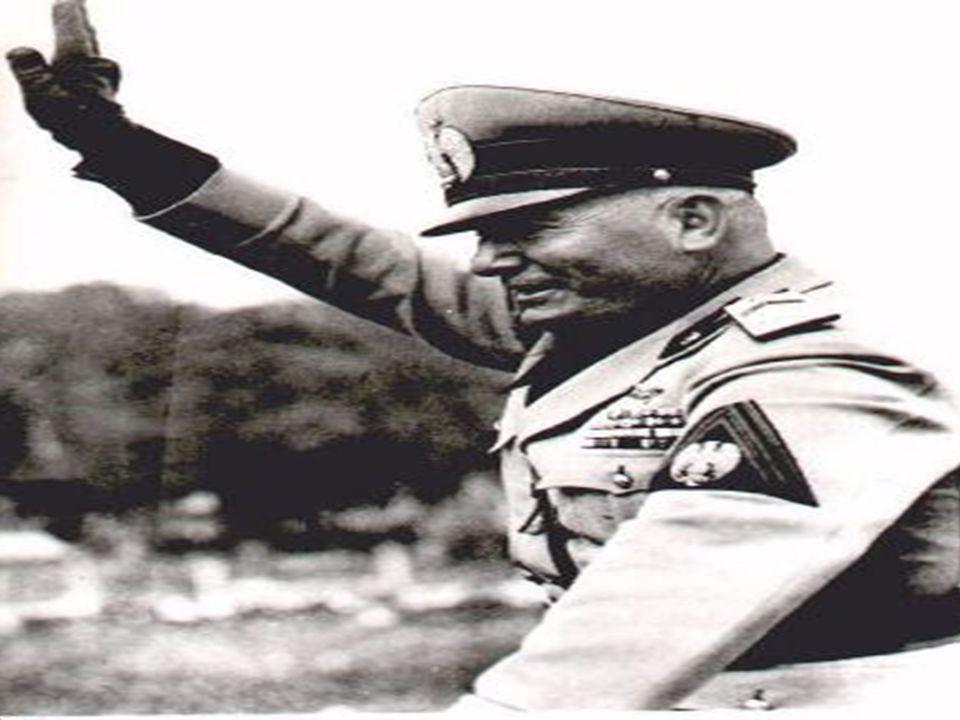 """Fascismens fremgang  I Italia ble Fascistpartiet dannet etter WW1  Målet var å gjenopprette """"Italias storhet""""  Mange rike var redde for en kommunis"""