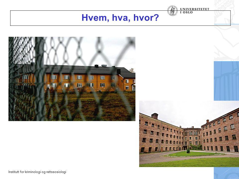 Institutt for kriminologi og rettssosiologi Hvem, hva, hvor?